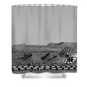 Windmill B And W Shower Curtain
