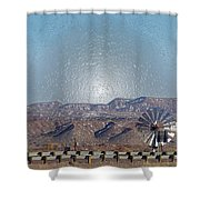 Windmill Culture Clash Shower Curtain