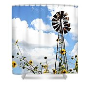 Windmill Dabble 2a Shower Curtain