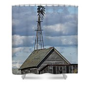 Windmill In The Storm Shower Curtain