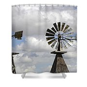 Windmills 5 Shower Curtain