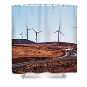 Windmills Near El Chorro Shower Curtain