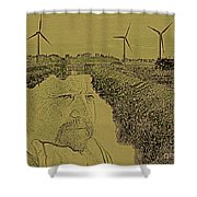 Windmills Of My Mind Shower Curtain