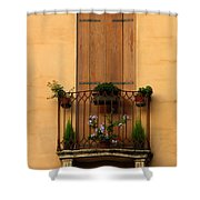 Window And Balcony In Vicenza Shower Curtain