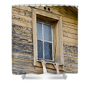 Window And Hands Shower Curtain