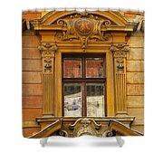 Window And Pediment In Ljubljana Slovenia Shower Curtain
