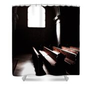 Window And Pews Shower Curtain