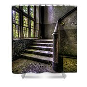Window And Stairs Shower Curtain by Nathan Wright