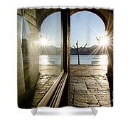 Window And Sun Shower Curtain