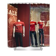 Window Display Sale With Mannequins No.0112 Shower Curtain