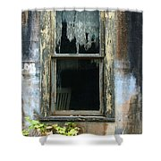 Window In Old Wall Shower Curtain by Jill Battaglia