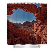 Window On The Valley Of Fire Shower Curtain