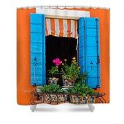 Window Plants Shower Curtain