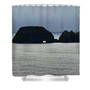 Window Rocks Shower Curtain