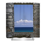 Window View At Fayette State Park Michigan Shower Curtain