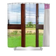 Window View Shower Curtain