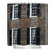 Windows At The Clover Hill Tavern Appomattox Virginia Shower Curtain