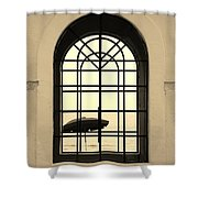 Windows On The Beach In Sepia Shower Curtain
