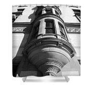 Windows On The Dakota In Black And White Shower Curtain
