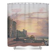 Windsor Castle North Terrace Looking West At Sunse Shower Curtain