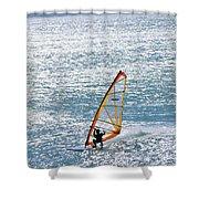 Windsurfer, Baja, Mexico Shower Curtain