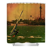 Windsurfer In Paradise Shower Curtain