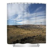 Windswept Hills Shower Curtain