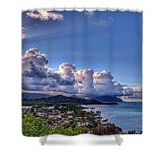 Windward Clouds Shower Curtain