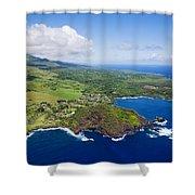 Windward Maui Aerial II Shower Curtain