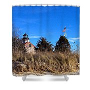 Windy Day At East Point  Shower Curtain
