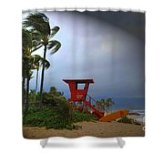Windy Day In Haleiwa Shower Curtain
