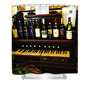 Wine And Song  Shower Curtain