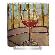 Wine By The Water Shower Curtain