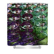 Wine Goblets Shower Curtain