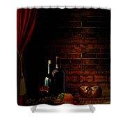 Wine Lifestyle Shower Curtain