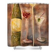 Wine Or Martini? Shower Curtain
