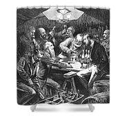 Wine Tasting, 1876 Shower Curtain by Granger