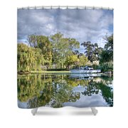 Winery Pond Shower Curtain