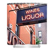 Wines And Spirits Sign Shower Curtain