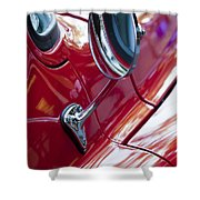 Wing Mirror Shower Curtain