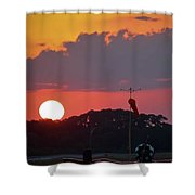 Wings At Rest Under The Sunset Shower Curtain