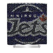 Winnipeg Jets Puck Mosaic Shower Curtain