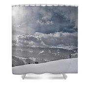 Winter Adventure Shower Curtain