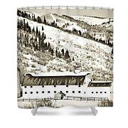Winter Barn 1 Shower Curtain