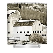 Winter Barn 4 Shower Curtain