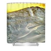 Winter Cape Cod Sunset Shower Curtain