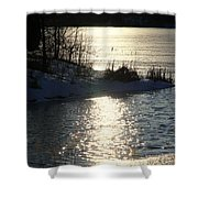 Winter Dusk Shower Curtain