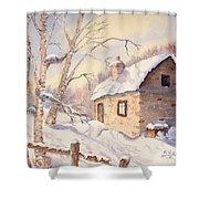 Winter Escape Shower Curtain