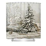 Winter Fairytale Shower Curtain
