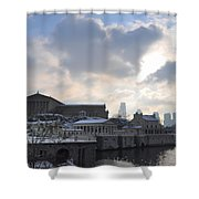Winter In Philly Shower Curtain